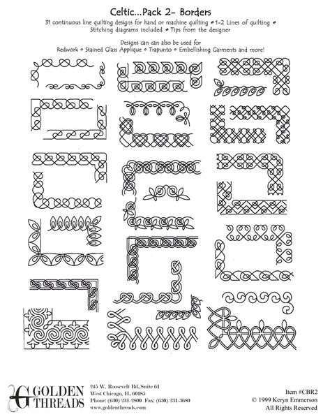 Golden Threads -- Shop | Category: Keryn Emmerson | Product ... : quilt border pattern ideas - Adamdwight.com